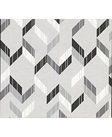 "21"" x 396"" Verity Herringbone Wallpaper"