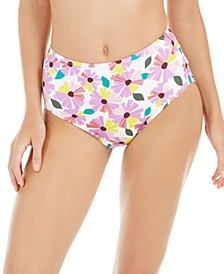 Wallflower Printed High-Waist Bikini Bottoms