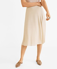 Mango Ribbed Knit Skirt