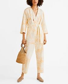 Mango Long Printed Jumpsuit