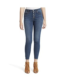 Junior Adored Curvy Hi Rise Ankle Skinny Jeans