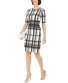 Plaid Sheath Dress