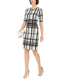 Taylor Plaid Sheath Dress