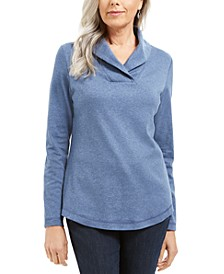 Cotton Shawl-Collar Top, Created for Macy's