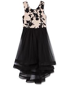 Speechless Big Girls Flocked Crinoline-Trim Dress
