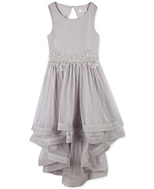 Big Girls Plus Embroidered Glitter Mesh Dress, Created For Macy's
