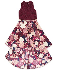 Speechless Big Girls Lace High-Low Dress