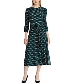 Polka-Dot Jersey Dress