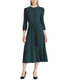 Lauren Ralph Lauren Petite Polka-Dot Jersey Dress