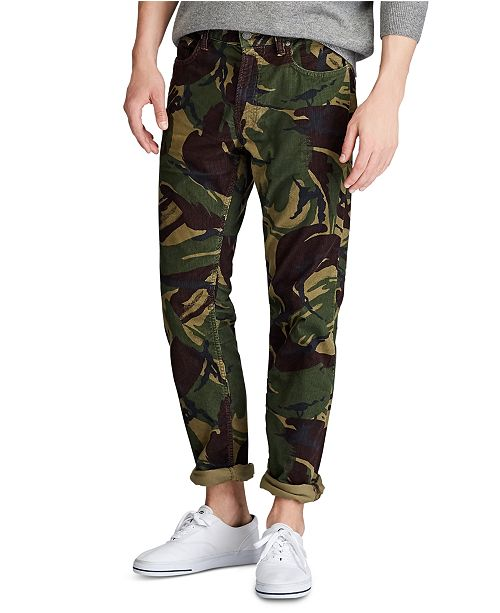 Polo Ralph Lauren Men's Big & Tall Stretch Cord Five-Pocket Camo Pants