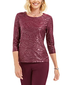 Stud-Trim Matte Foil Top, Created For Macy's