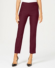 Petite Patterned Straight-Leg Pants, Created For Macy's