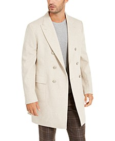 Men's Slim-Fit Double-Breasted Overcoat