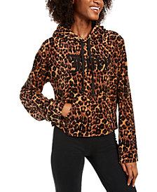 Juicy Couture Leopard Print Logo Hoodie