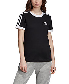 adidas Originals Women's Adicolor Cotton 3-Stripe T-Shirt