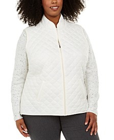Plus Size Quilted Puffer Vest, Created For Macy's