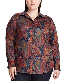 Lauren Ralph Lauren Plus Size Jamelko Long-Sleeve Shirt