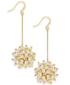 INC Gold-Tone Beaded Burst Linear Drop Earrings, Created For Macy's