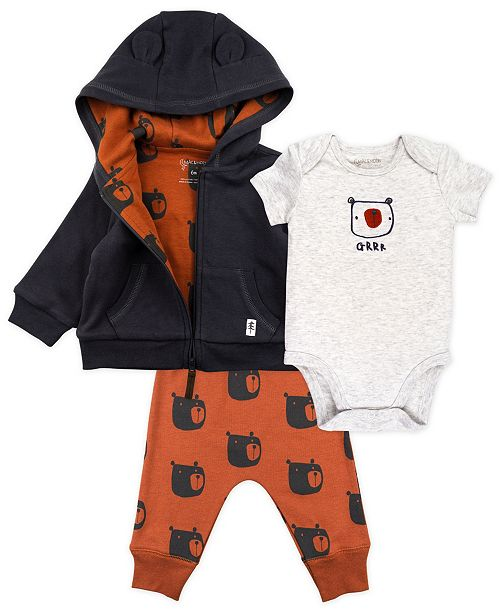Mac & Moon Baby Boy 3-Piece Outfit Set