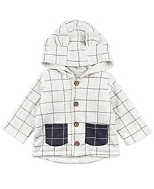 Baby Boy and Girl Heather Plaid Hooded Jacket