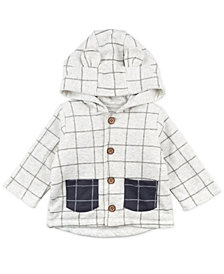 Mac & Moon Baby Boy and Girl Heather Plaid Hooded Jacket