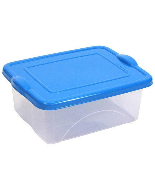 TAURUS 2.5 Gallon Clearview Storage with Color Snap-on Lid
