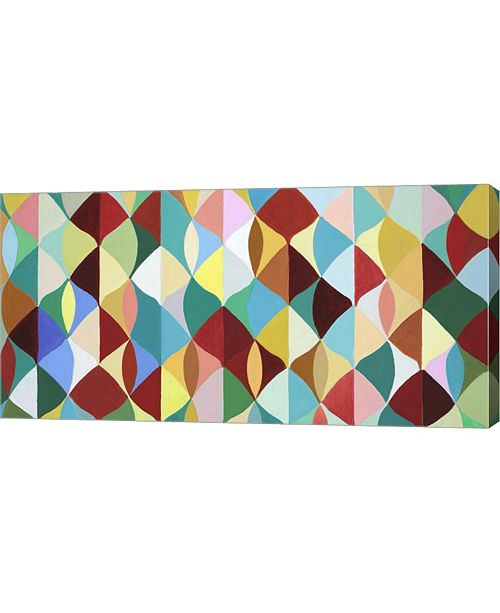 "Metaverse Multicolor Leaves II by Julie Joy Canvas Art, 32"" x 16"""