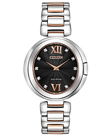 Eco-Drive Women's Capella Diamond-Accent Two-Tone Stainless Steel Bracelet Watch 34mm