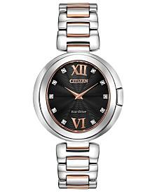 Citizen Eco-Drive Women's Capella Diamond-Accent Two-Tone Stainless Steel Bracelet Watch 34mm