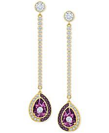 Gold-Tone Crystal Convertible Earrings
