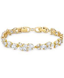 Gold-Tone Crystal Flex Bracelet