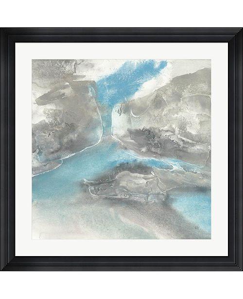"""Metaverse Blue Tones II by Chris Paschke Framed Art, 32"""" x 32"""""""