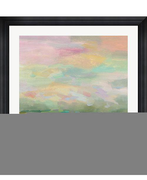 """Metaverse Pastel Fields by Silvia Vassileva Framed Art, 32"""" x 32"""""""