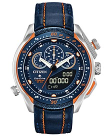 Eco-Drive Men's Analog-Digital Chronograph Promaster SST Black Leather Strap Watch 46mm
