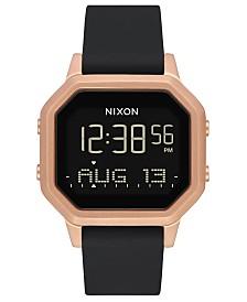 Nixon Unisex Digital Siren Gray Silicone Strap Watch 36mm