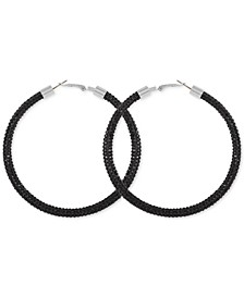 Large Pavé Hoop Earrings 3""
