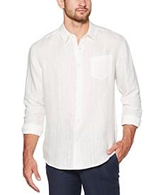 Men's Solid Linen Shirt