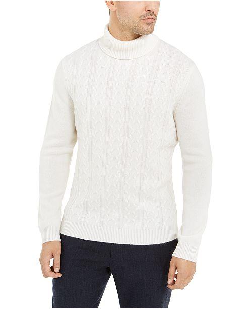 Tasso Elba Men's Cashmere Textured Turtleneck Sweater, Created for Macy's