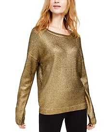 INC Metallic Pointelle Sweater, Created For Macy's