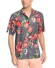 Men's Poinsettia Button Down Shirt