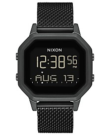 Nixon Women's Siren Black Stainless Steel Milanese Bracelet Watch 36mm