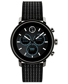 Connect 2.0 Black Fabric Strap Hybrid Touchscreen Smart Watch 42mm
