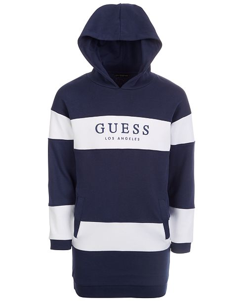 GUESS Big Girls Cotton Striped Hoodie Dress
