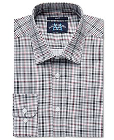 of London Men's Slim-Fit Stretch Houndstooth Dress Shirt