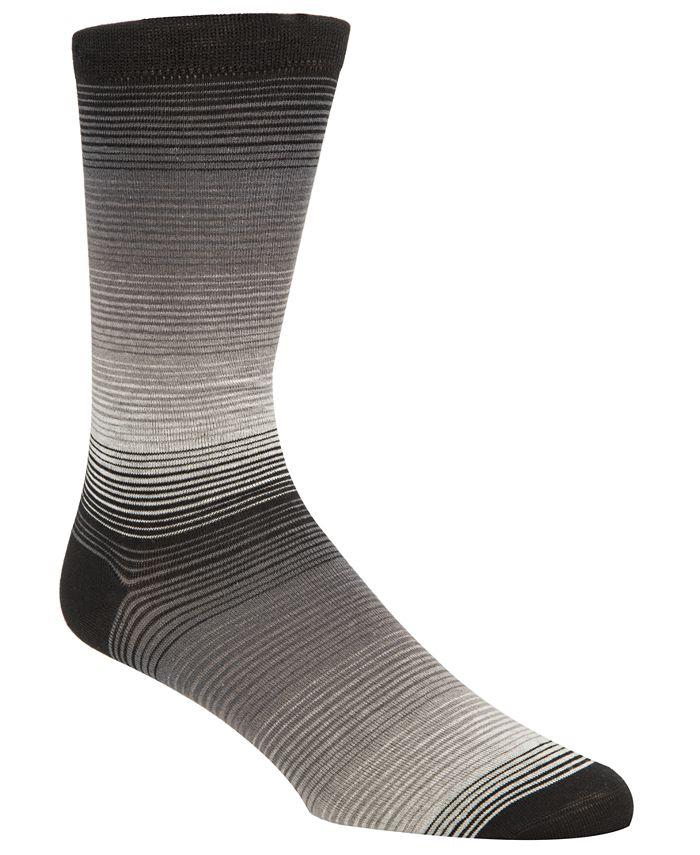 Cole Haan - Men's Gradient-Stripe Socks