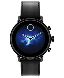 Connect 2.0 Black Leather Strap Hybrid Touchscreen Smart Watch 42mm