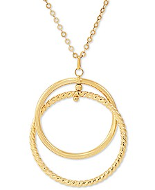 "Interlocking Circle 24"" Pendant Necklace in 14k Gold"