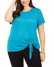 INC Plus Size Ruched Top, Created for Macy's