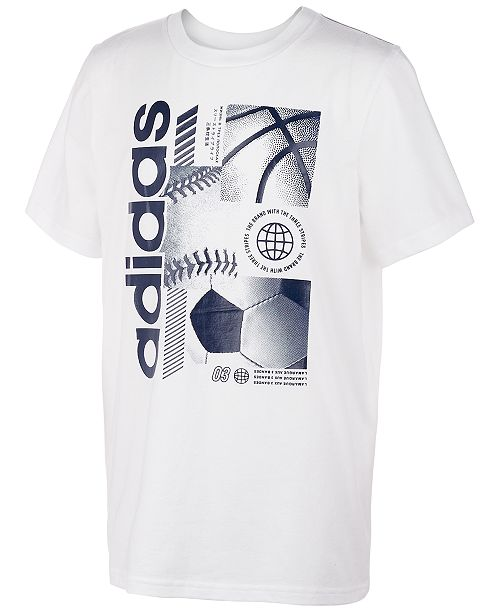 adidas Big Boys Multi-Sport Cotton T-Shirt