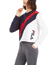 Ayeka Colorblocked Long-Sleeve Cropped T-Shirt